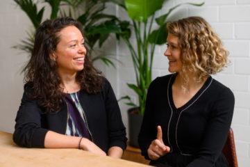 Maren Schlenker und Dr. Ingrid Rupp vom Institut für Liebe