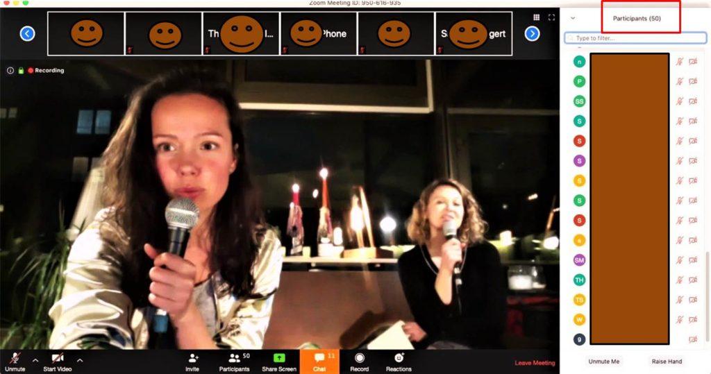 Über 50 Teilnehmer im Live-Stream für das Institut für Liebe in Heidelberg