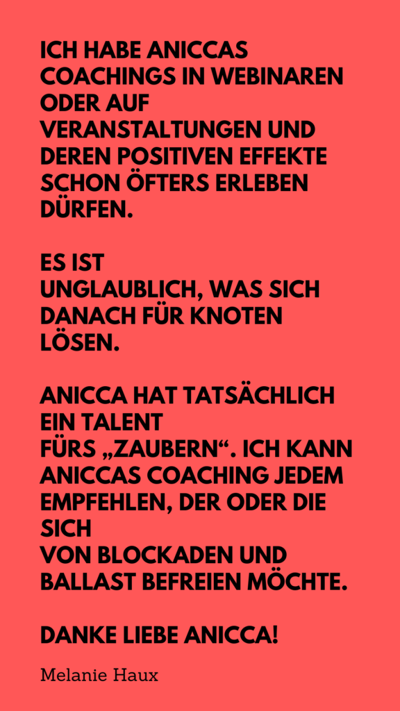 Feedback zu Anicca Anais Vogt
