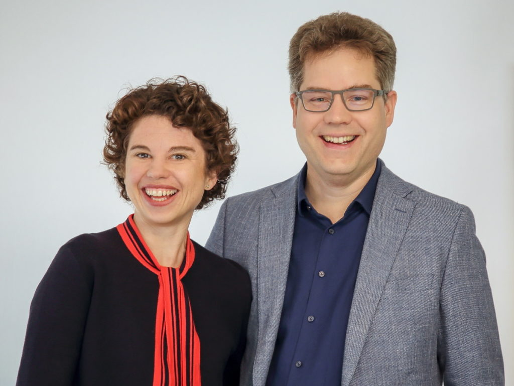 Geschäftsführer Jan und Eva Krause von Mister Size