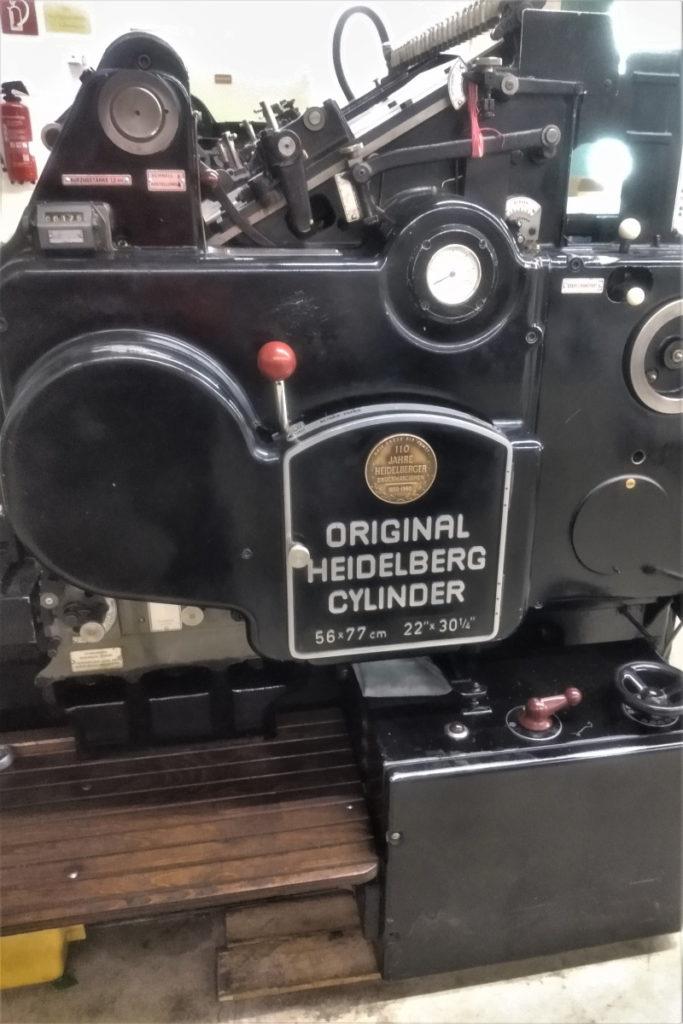 Eine alte Druckmaschine von Heidelberger Druck